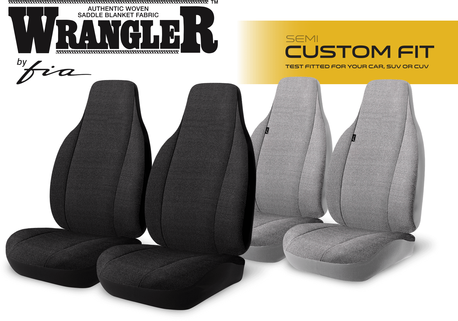 TRS400 Series Authentic Saddleblanket Solid Colours Semi Custom Fit Car Seat Covers