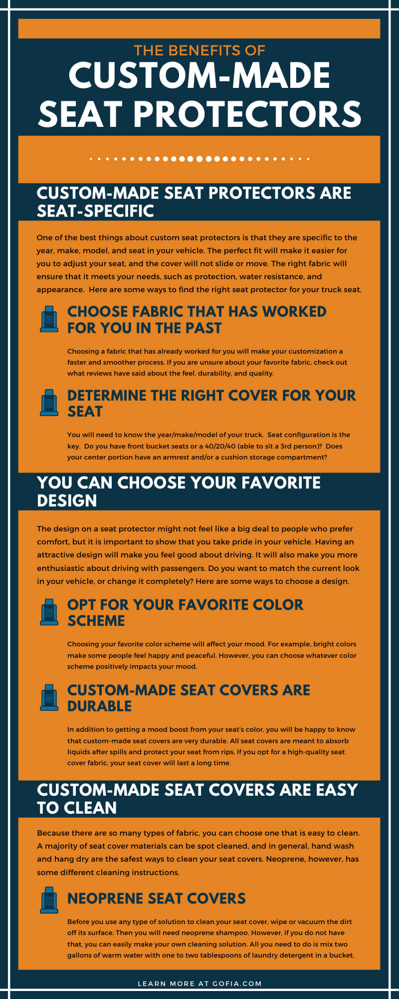 The Benefits of Custom-Made Seat Protectors