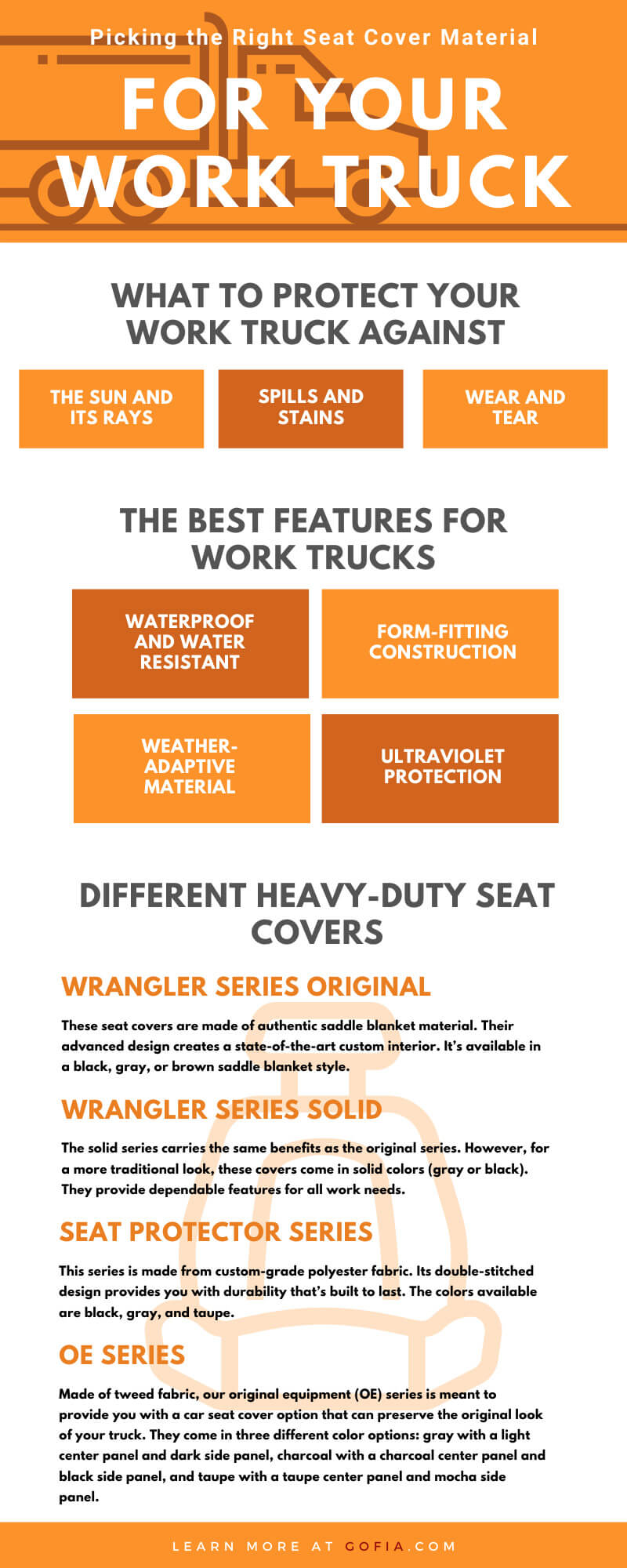 Picking the Right Seat Cover Material for Your Work Truck