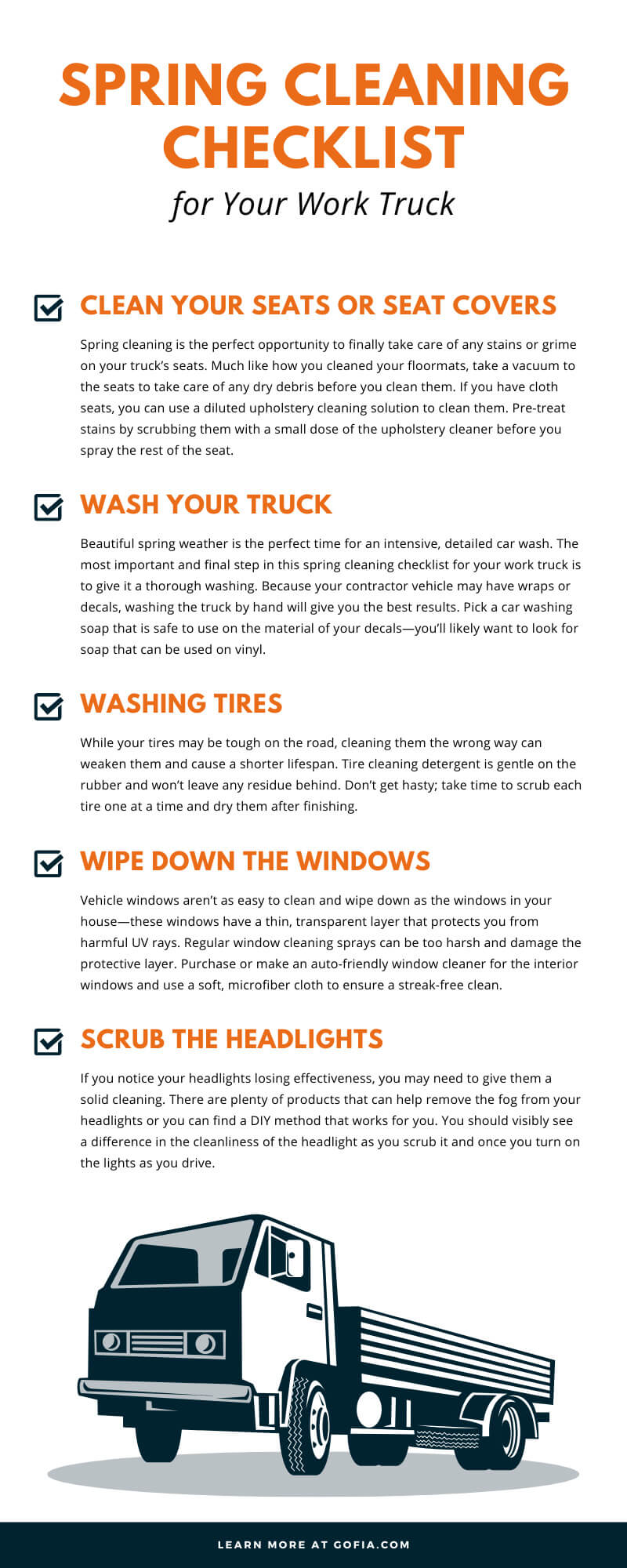 Spring Cleaning Checklist for Your Work Truck